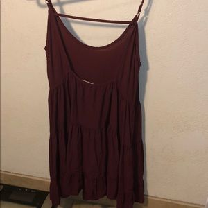 BRANDY MELVILLE MAROON OPEN BACK DRESS